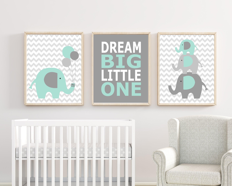 cr che de l l phant art b b gar on p pini re estampes art etsy. Black Bedroom Furniture Sets. Home Design Ideas