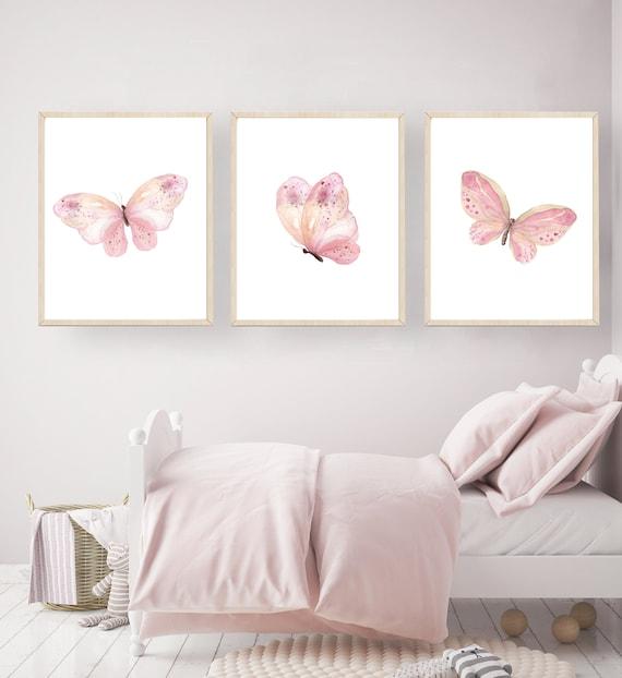 Butterfly Wall Art Print Girl And Butterflies