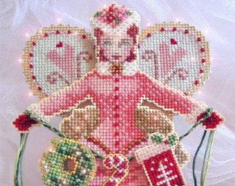 Brooke's Books Spirit of Holiday Giving Angel Dimensional Ornament INSTANT DOWNLOAD Cross Stitch Chart