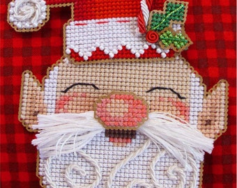 Brooke's Books HoHo Santa Dimensional Ornament Cross Stitch INSTANT DOWNLOAD Chart