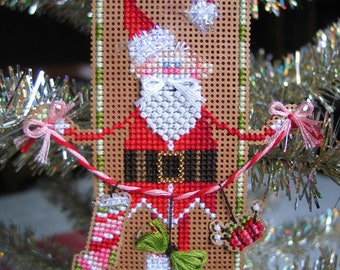 Brooke's Books Stitchy Claus Ornament INSTANT DOWNLOAD Cross Stitch Chart