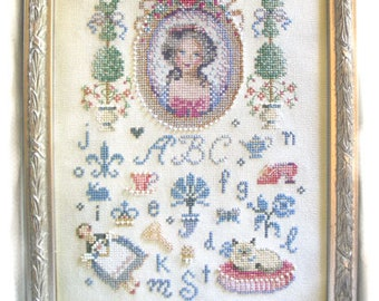 Brooke's Books Sophie's Afternoon Cross Stitch Sampler INSTANT DOWNLOAD Chart