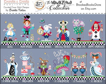 25% Off Full Collection All 12 Brooke's Books Once Upon A Stitch Wonderland Cross Stitch INSTANT DOWNLOAD Charts