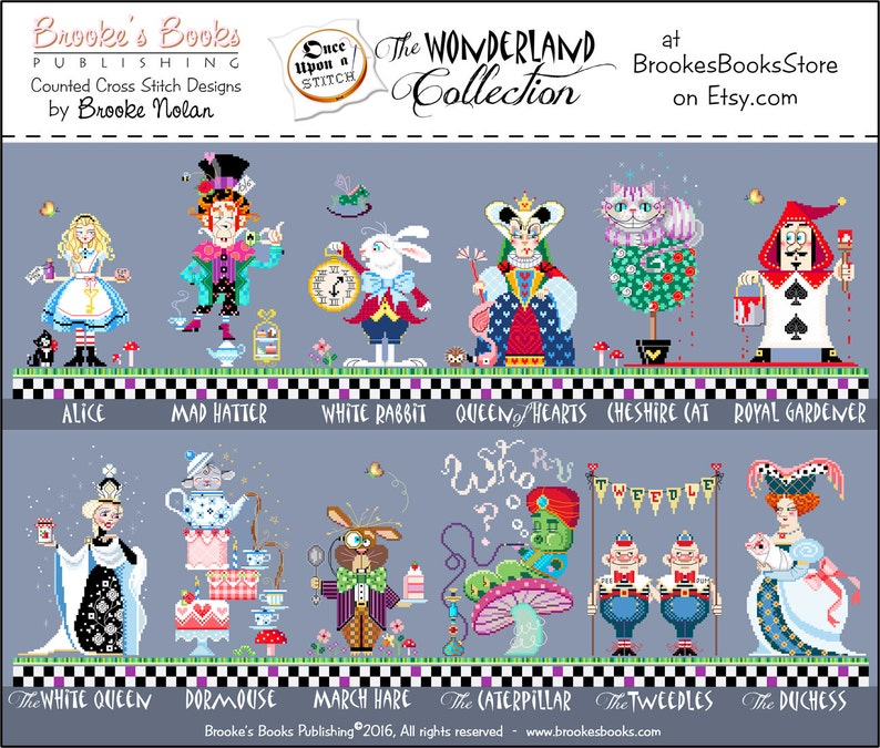 25/% Off Full Collection All 12 Brooke/'s Books Once Upon A Stitch Wonderland Cross Stitch INSTANT DOWNLOAD Charts