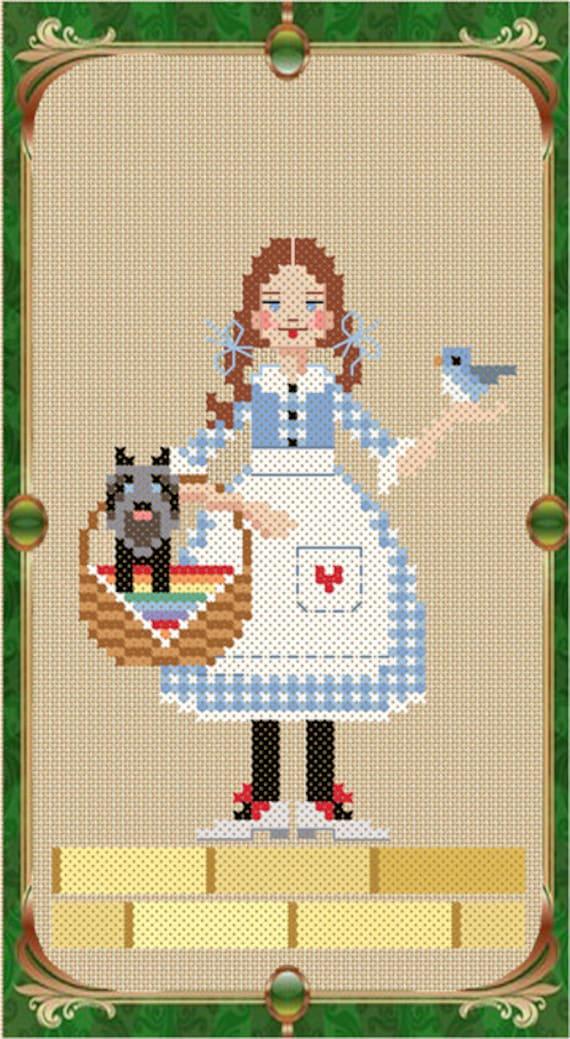 Gillikin 10/% Off Brooke/'s Books X-Stitch The Wizard of Oz X-stitch chart-Mr
