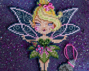Brooke's Books - 3 of 14 - Tinker Bell from the Neverland Collection .PDF INSTANT DOWNLOAD Cross Stitch Chart