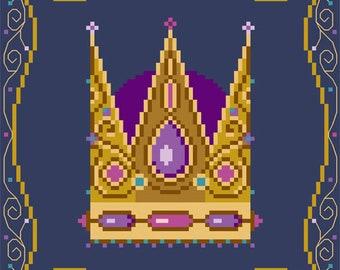 Brooke's Books Three Kings Purple Crown Cross Stitch INSTANT DOWNLOAD Chart