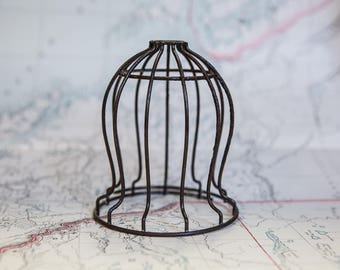 Cage light etsy vintage industrial light cage aloadofball Choice Image
