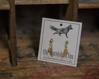 Tiny Art Deco Gold Dangle Earrings