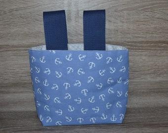 Wheel bag steering wheel bag bag handmade in coated Westfalenfabric/ cotton fabric and wax cloth