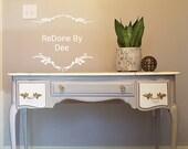 SOLD French Provincial Style Secretary, Desk, Vintage Vanity, Ladies Writing Desk, Lift Top Desk, Dressing Table, Bedside Table