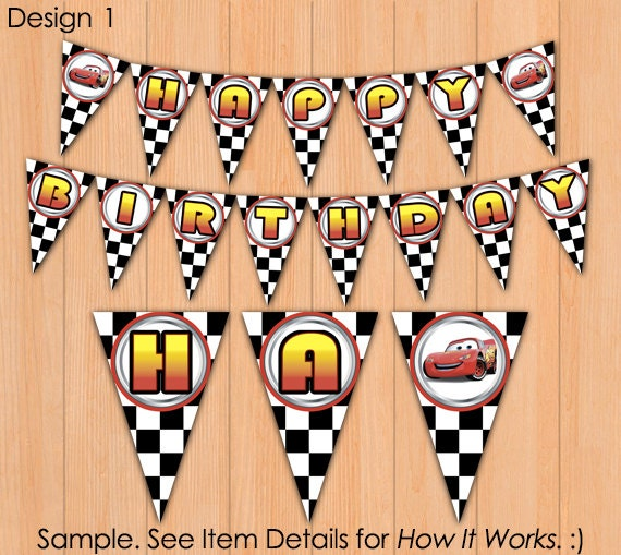 Cars Banner Hi Def Birthday