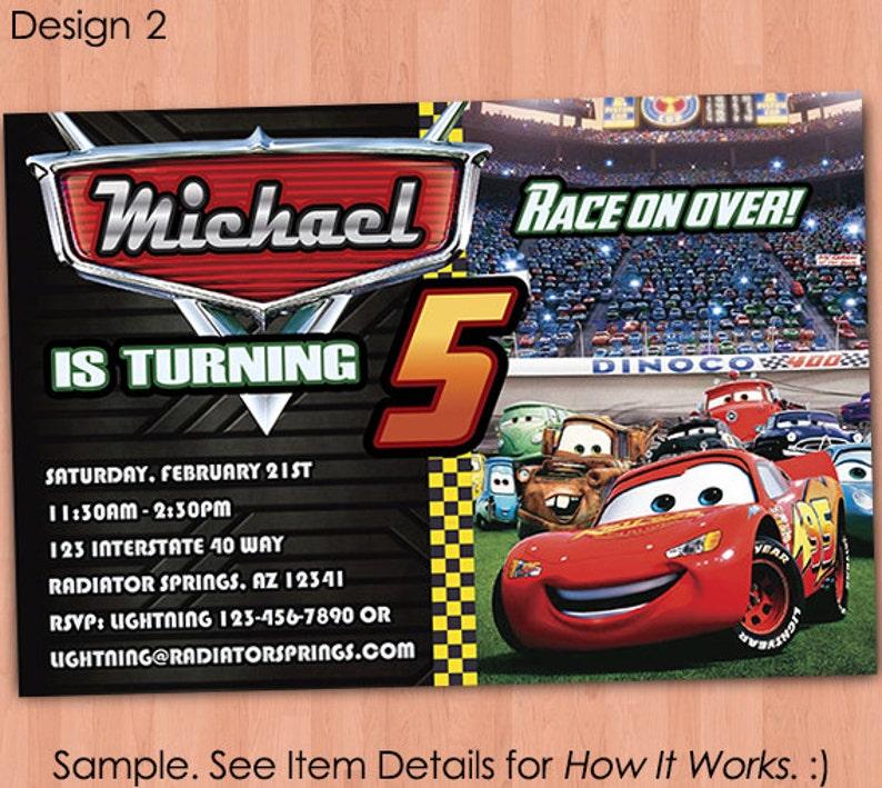 Cars Birthday Invitation Printable