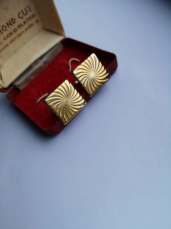 Vintage Gold Cufflinks Graduation Gift Gifts for Men Cuff Links Professional Accessories