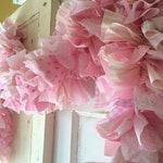 Pink It's a Girl Baby Shower Party Decoration 6-10 Ft. fabric Garland Banner, Pink Party Decor & Photo Backdrop, Handmade, Baby Girl Shower