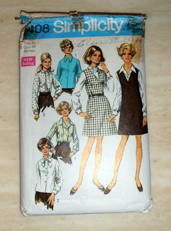 Simplicity Plus Size 18w 26w Bodysuit Pattern, 1 Each in