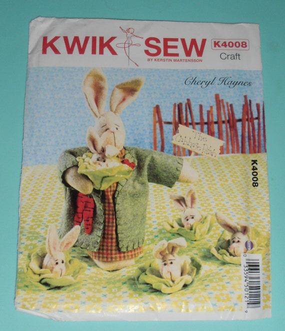 Un conejo de Acrílico Costura Eater//plantilla de artesanía
