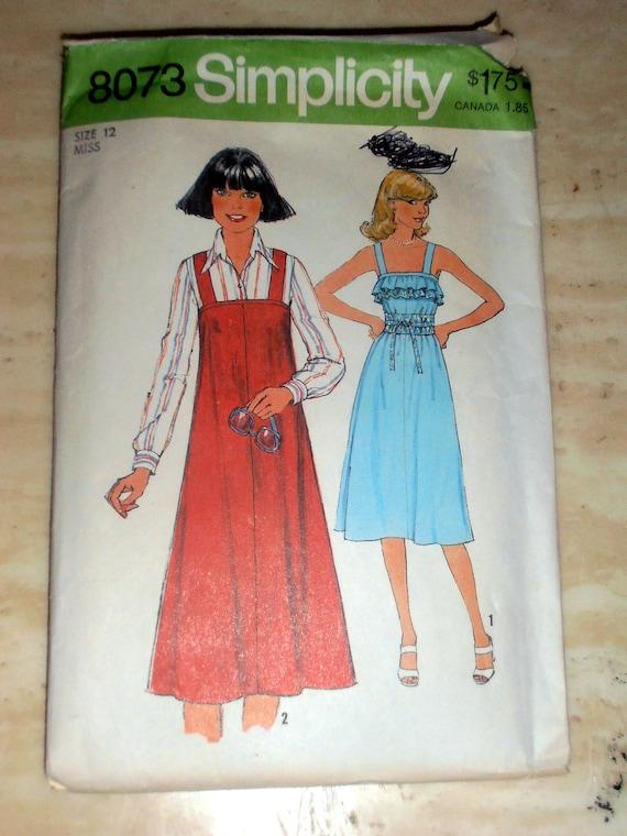 Einfachheit 8073 Schnittmuster Pullover Kleid Misses | Etsy