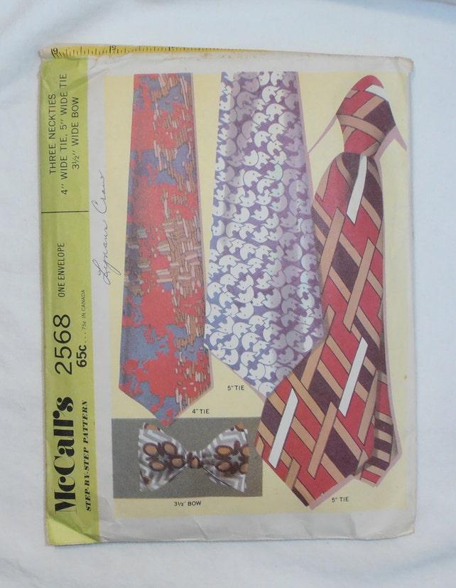 Jahrgang Krawatte und Fliege Muster McCalls 2568 Vintage | Etsy