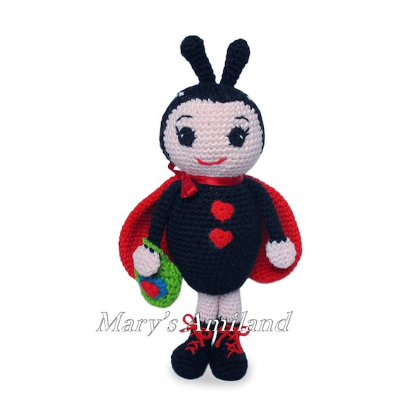 Lily Ladybug The Ami Amigurumi Crochet Pattern Digital Etsy