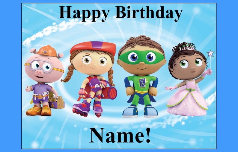 Wondrous Super Why Edible Cake Topper Decoration Party Birthday Image Etsy Funny Birthday Cards Online Elaedamsfinfo