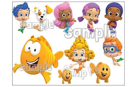 Bubble Guppies Characters Individuals Custom Cake Topper