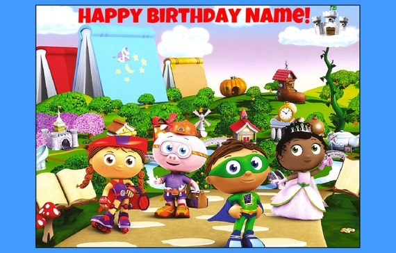 SUPER WHY edible cake topper decoration party birthday image