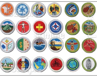 SCOUT Merit Badge sheet Customized EDIBLE cake decoration image Cupcake party boy Eagle required fondant emblem award medal celebration