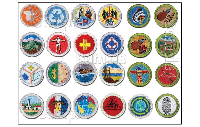 graphic regarding Printable List of Merit Badges referred to as SCOUT Benefit Badge sheet Custom-made EDIBLE cake decoration impression Cupcake bash boy Eagle expected fondant logo award medal occasion