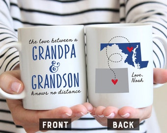 Grandpa And Grandson Mug Long Distance For Gift Fathers Day Coffee