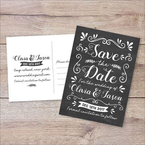 script save the date card custom save the date script rustic etsy