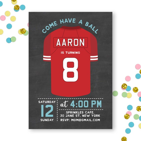 Sports Birthday Invitation Boy Invite Soccer