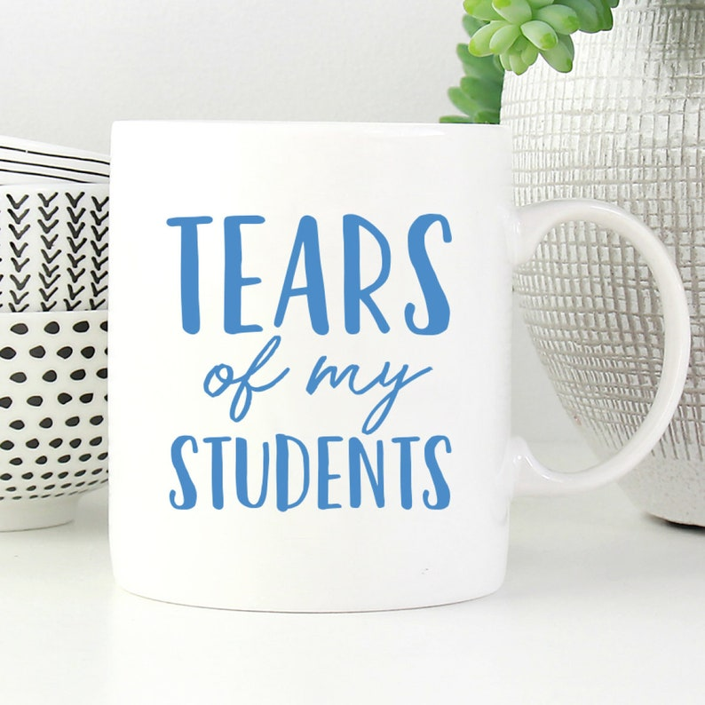 0e8b354142c Tears of My Students Funny Teacher Mug Funny Teacher Gift | Etsy
