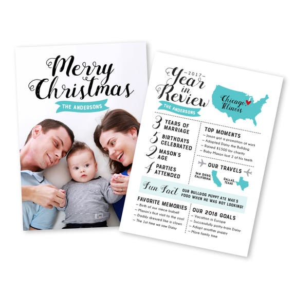 image 0 - Year In Review Christmas Card