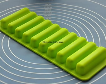 Bars Flexible Silicone Mold Cake Mold Chocolate Mold Cookie Mold Icing Mold Polymer Clay Mold Resin Mold Soap Mold