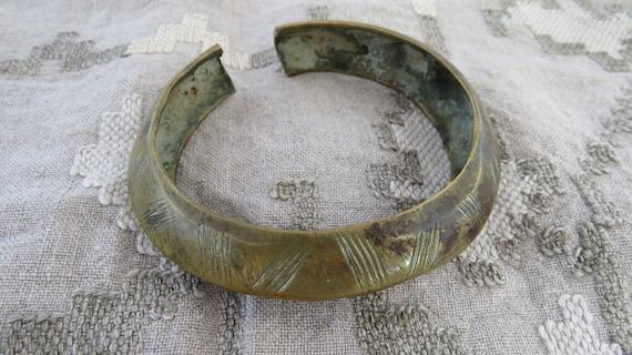 Genuine Bronze African Bangle/Bronze African Artef