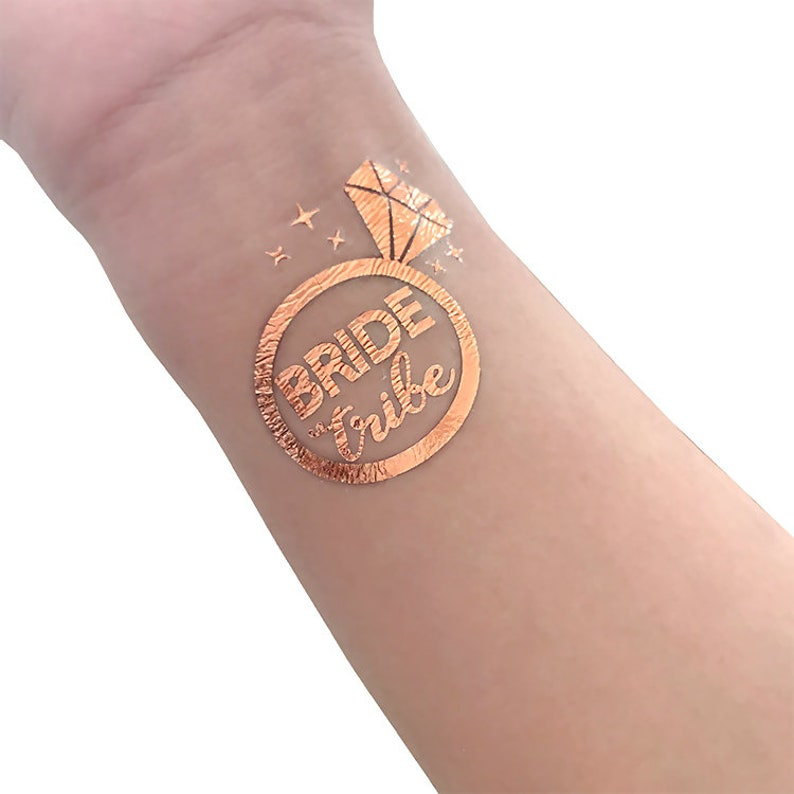 64e51fcd0 Rose Gold Bridal tattoo | Etsy