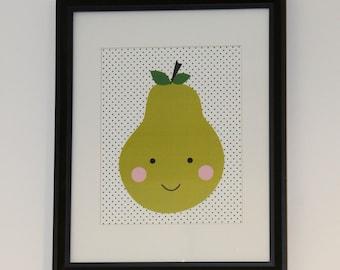 Happy Face Pear - Artwork