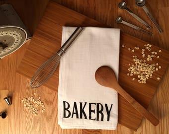 Hand Printed Farmhouse Flour Sack Tea Towel