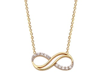 Infinity 14k Solid Gold Necklace Best Price
