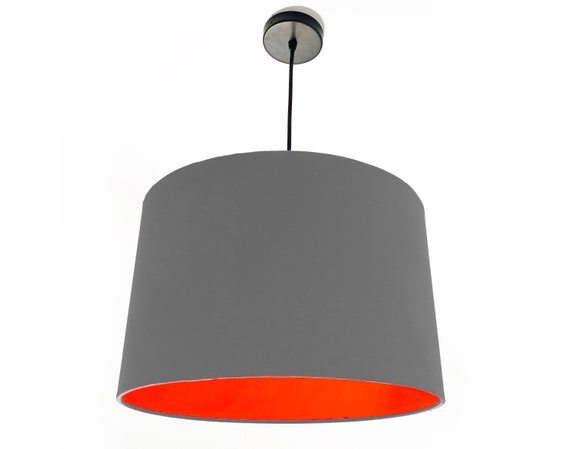 Dark Grey lampshade With a Choice Of 20 Lining Colours