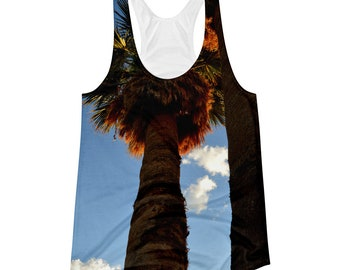 Two Palm Trees Racerback Tank