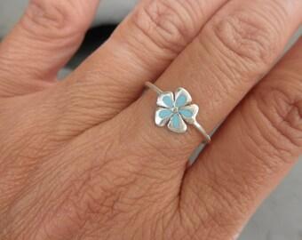Enamel flower ring