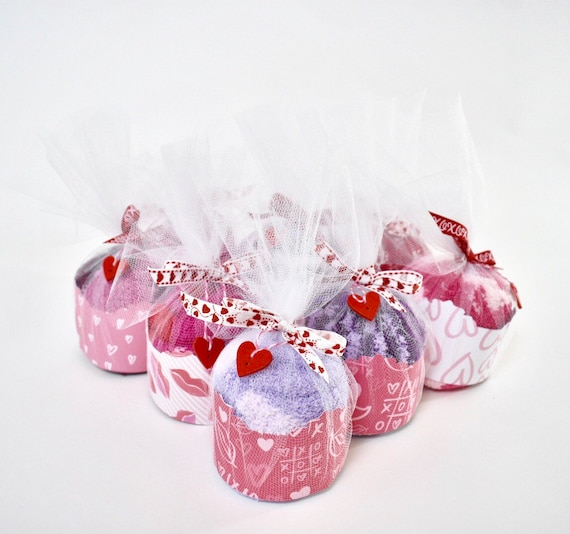 Fuzzy Sock Cupcakes Womens Valentine Day Gifts Gifts For Etsy
