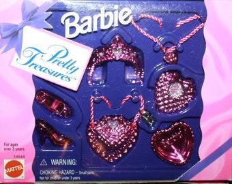 Vintage BARBIE Pretty Treasures Accessory Set, 1995 Mattel, NIB #14544