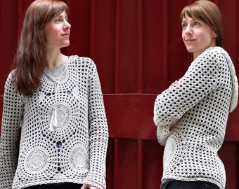 37299a0251f8 Crochet top PATTERN for sizes M-3XL crochet TUTORIAL in English for every  row