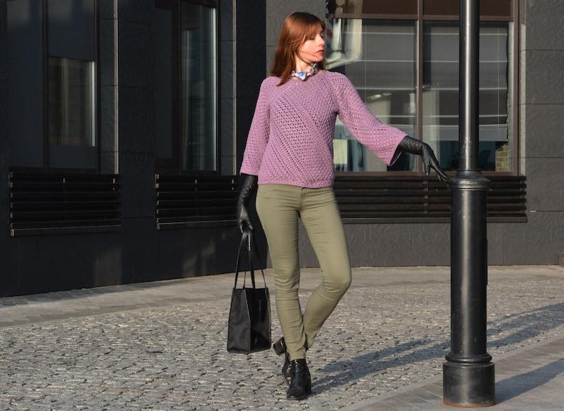 Crochet sweater PATTERN for sizes Xs-3XL crochet TUTORIAL in image 1