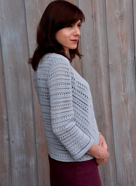 Casual Crochet Jacket Pattern Crochet Tutorial In English For Etsy
