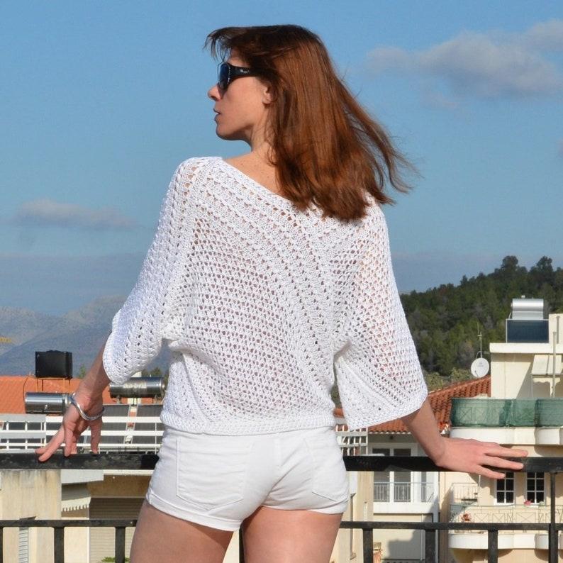 Crochet sweater PATTERN sizes XS-3XL crochet TUTORIAL in image 9