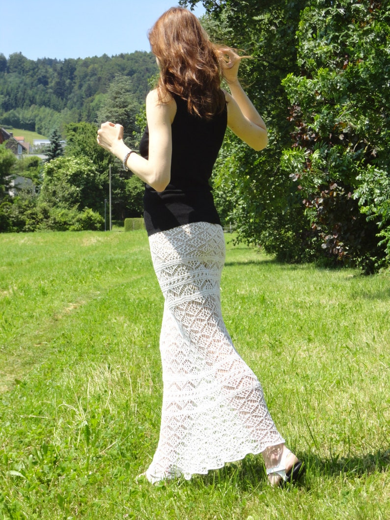 Knit skirt PATTERN for sizes S-XL knit TUTORIAL in English image 0